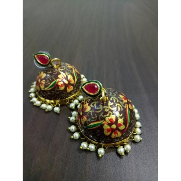 Hand Painted Enamel Jhumka