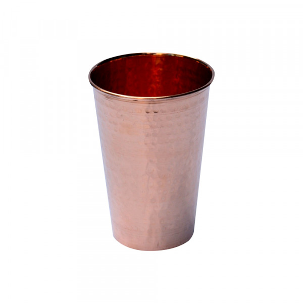 Pure copper Straight water glass hammered