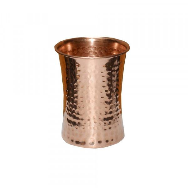 Copper Mule mug hammered barrel with brass handle