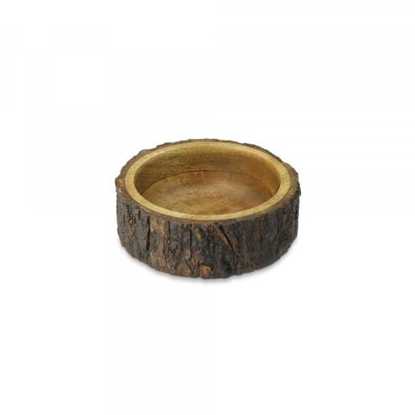 Mango wood Bark bowl. 6 inches dia.