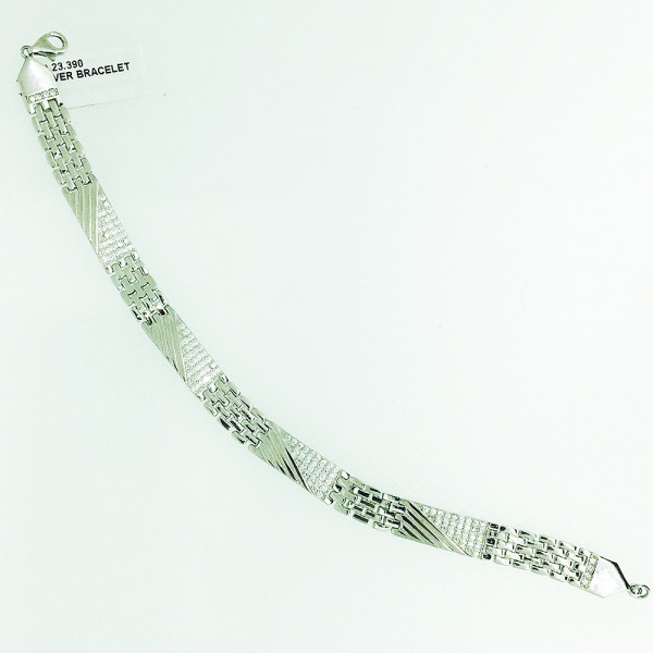 Silveria By Ruchi Men Sterling Silver Bracelet Set of 3