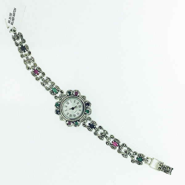 Silveria By Ruchi Sterling Silver Hand Watch Set of 3