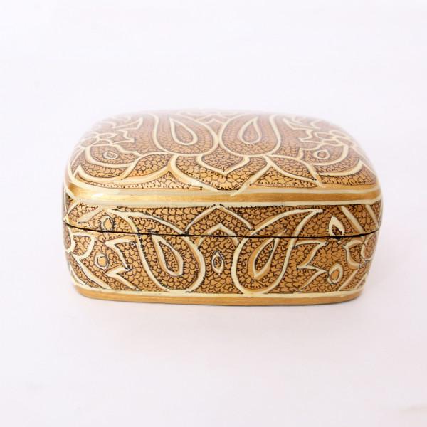 Hands of Gold Paper Mache Meter box - Shawl design