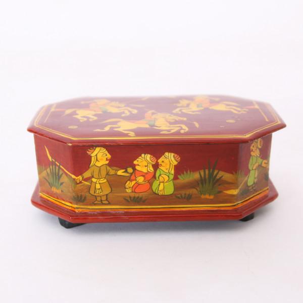 Hands of Gold Paper Mache Octagonal box - Polo design