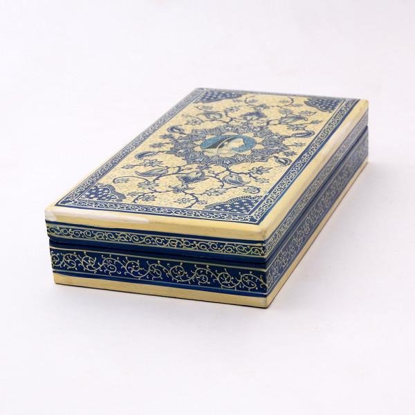 Hands of Gold Paper Mache Flat box - Noor Jahan