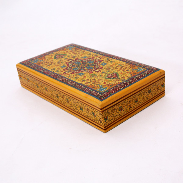 Hands of Gold Paper Mache Flat box - Carpet design