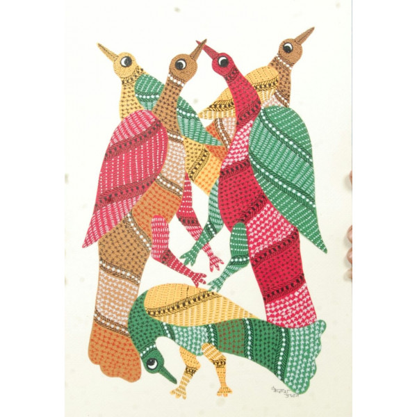 Gond Painting Life of Birds