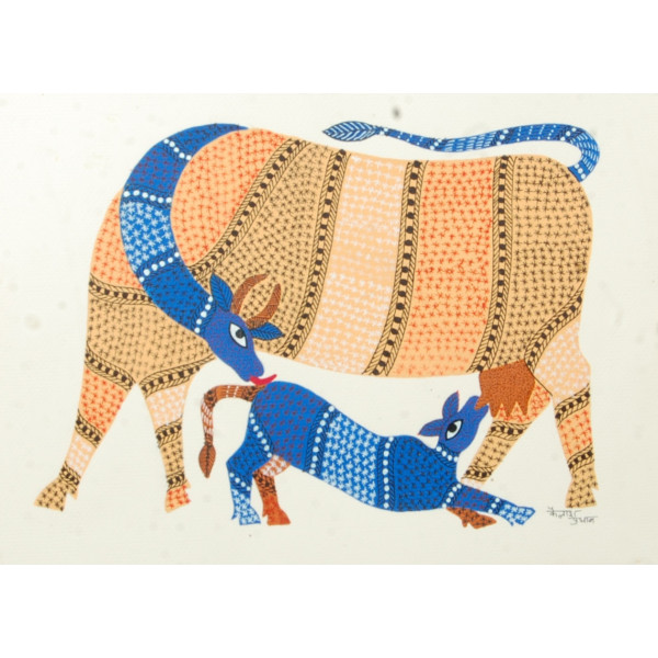 Gond Painting Mother